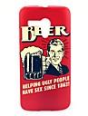 Boire sur boîtier en plastique dur Bonheur de bière de modèle pour Motorala Moto G