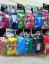 радуга красочные ткацкий станок ткань резинкой браслет сумка (600 шт полосы + 24 шт С или с клипсы + 1 крюк)