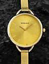Mulheres Relógio de Moda Quartz Banda Prata / Dourada marca-