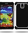Hard Case 2-en-1 Conception Hexagone Motif de silicone à l'intérieur pour Samsung Galaxy Note 3 (couleurs assorties)