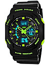 SKMEI Men\'s Sport Watch Alarm / Calendar / date / day / Water Resistant / Water Proof Rubber Band Black