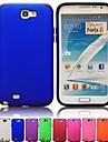 Для Samsung Galaxy Note Защита от удара / Матовое Кейс для Задняя крышка Кейс для Один цвет PC Samsung Note 2
