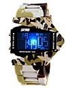 SKMEI Homme Montre de Sport Montre Militaire Montre numerique Quartz Numerique Quartz Japonais LED LCD Calendrier Chronographe Etanche