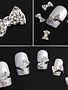 20PCS 3D Rhinestone Studded Prata Decoracoes Nail Art