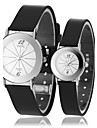 Couple's Simple Style Round Dial Black Rubber Band Quartz Wrist Watch (Assorted Colors) Cool Watches Unique Watches