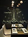 Эйфелева башня флуоресценции Pattern стикер стены (1шт)