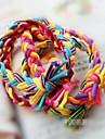 Contrast Color Hand-woven Hair Bands Elastic Wide Version Twist Braid Rope (Color Random)