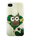 Owl in Green Heart Pattern Case for iPhone 4/4S