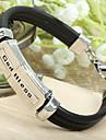 Mode de beau style Euramerican God Bless chaîne en cuir noir d'alliage et de lien Bracelet (1 PC)