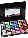 Professional 78 Color Eyeshadow & Foundation & Blush Palette with Mirror&Sponge Applicator MakeUp Set