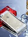 Flash appelle TPU antichoc vitreux cas de la glace pour l'iphone 5 / 5s (couleurs assorties)