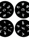1PCS Nail Art Stamp Stamping Image Template Plate B Series NO.85-88(Assorted Pattern)