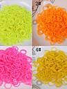 baoguang®600pcs цвета радуги ткацкий станок сплошной цвет резинкой (1шт вязание крючком, 24pcs крюк, разные цвета)