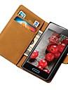 Genuine Leather Wallet Case for LG Optimus L5 E612