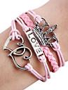 bracelet en cuir de l'infini de l'amour de la couronne cru bracelet amérique corde