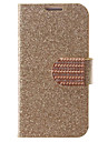 Flash Powder Design PU Leather Full Body Case with Card Slot for Samsung Galaxy S4 Mini I9190 (Assorted Colors)