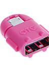 USB 2.0 OTG 여성 어댑터 HF-안드로이드 마이크로 USB 남성 - 녹색 + 딥 핑크 (2 개)