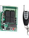 Module de relais de l\'alimentation a distance 12V 4 canaux sans fil avec telecommande (DC 14V)