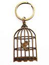 Vintage Bird Cage Bronze Alloy Keychain(1 Pc)