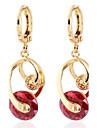 Women's Fashion Romantic Design 18K Gold Plated Zircon Earrings