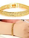 Femme Manchettes Bracelets Original Mode bijoux de fantaisie Plaque or 18K or Bijoux Bijoux Pour Mariage Soiree Quotidien Decontracte