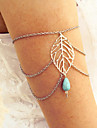 Women's Body Jewelry Body Chain Arm Chain Carved Turquoise Leaf Gold Silver Bronze Jewelry For Daily Casual