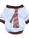 Dog Shirt / T-Shirt Dog Clothes Breathable Casual/Daily Stripe White Costume For Pets