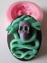 cranio cobra fermento bolo fondant de chocolate do molde de doces, l4.8cm * w3.9cm * h1.5cm