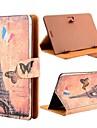 romântico torre Eiffel padrão aleta universal caso estande de couro para todos os PC tablet de 7 polegadas com botão de inversão magnética