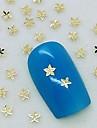 200шт крошечный кленовый лист золотой металл ломтик ногтей украшения