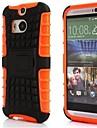 Для Кейс для HTC Защита от удара / Рельефный Кейс для Задняя крышка Кейс для Армированный Твердый Силикон HTC