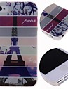 Cartoon Eiffel Tower Pattern Hard Case for iPhone 4/4S