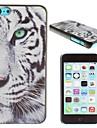 estojo rigido padrao de tigre branco pc real para iphone 5c