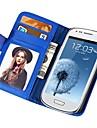 carteira toque suave estojo de couro pu para Samsung Galaxy S3 mini-i8190