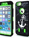 padrão âncora caso projeto conchas duplo para iphone 6 (cores sortidas)