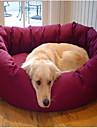 Круглую мягкую кровать руно с лапой шаблон для домашних собак (разных цветов)