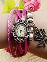 Жен. Модные часы Часы-браслет Кварцевый PU Группа Цветы Богемные Черный Синий Оранжевый Коричневый Зеленый