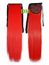 Venda quente Peny Grampos de cabelo da cauda colorida Colour Red Bar atacado extensao do cabelo do cabelo Pieces