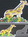 1pcs modelo padrao de contas de fusiveis claro pegboard girafa para hama contas 5 milimetros cabecas diy