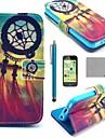 coco Fun® motif de noeud chinois en cuir PU cas complète du corps avec protecteur d'écran pour iPhone 5c