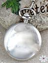 Masculino Relógio de Bolso Quartzo Lega Banda Vintage Prata