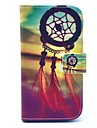 Wind Chimes Pattern PU Leather Full Body Case with Stand and Card Holder for HTC Desire 500