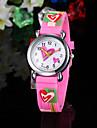 Children's Watch Heart Pattern Pink Silicone Strap Cool Watches Unique Watches Fashion Watch