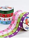 08.03 pulgadas el modelo del árbol de Navidad de impresión de cinta costilla palo estilo de cinta de 5 m cada bolsa