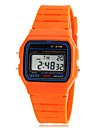 Montre LCD multifonctionnel de poignet de bande de caoutchouc numérique des enfants (couleurs assorties)