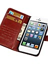 Etui de protection Portefeuille au design vintage en PU cuir pour iPhone 6 (couleur au choix)