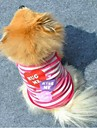 Cat Dog Shirt / T-Shirt Dog Clothes Fashion Stripe Hearts Purple Pink Costume For Pets