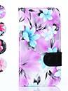 삼성 은하 그랜드 네오 i9060를위한 카드 SOLT 동굴 (모듬 된 색상)와 꽃 패턴 PU 가죽 전체 바디 커버