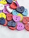 точка в форме сердца записки scraft швейные DIY Деревянные кнопки (10 шт случайный цвет)