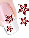 1 pcs Flower / Fashion Water Transfer Sticker / 3D Nail Stickers Daily